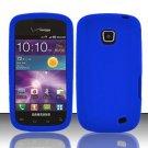 Soft Silicone Skin Cover Case for Samsung illusion i110 (Verizon) - Blue