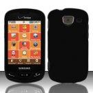 Hard Plastic 2 Piece Snap On Rubberized Case for Samsung Brightside U380 - Black