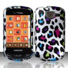 Hard Plastic Snap On Rubberized Design Case for Samsung Brightside U380 - Rainbow Leopard