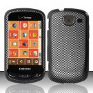 Hard Plastic Snap On Rubberized Design Case for Samsung Brightside U380 - Carbon Fiber