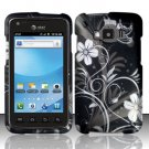 Hard Plastic Snap On Rubberized Design Case for Samsung Rugby Smart i847 - Midnight Garden