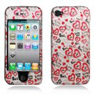 Hard Plastic Rubber Feel Design Case for Apple iPhone 4/4S - Love You