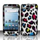 Hard Plastic Rubber Feel Design Case for HTC G2 (T-Mobile) - Rainbow Leopard