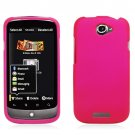 Hard Plastic 2-Piece Rubberized Snap On Cover Case for HTC One S/Ville (T-Mobile) - Hot Pink