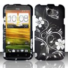 Hard Plastic 2-Piece Rubberized Snap On Design Case for HTC One X/Elite (AT&T) - Midnight Garden