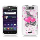 Hard Plastic Rubberized Design Case for LG Connect 4G (MetroPCS)/Viper 4G (Sprint) - Floating Hearts
