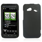 Hard Plastic Rubberized Snap-On Case for HTC Droid Incredible 4G/Fireball - Black