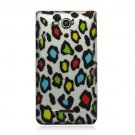Hard Plastic 2-Piece Rubberized Snap On Design Case for LG Lucid 4G - Leopard Skins