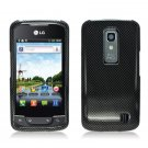 Hard Plastic 2-Piece (Snap On) Design Case for LG Nitro HD - Carbon Fiber