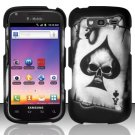 Hard Plastic Snap On Rubberized Design Case for Samsung Galaxy S Blaze 4G - Ace of Spade Skull