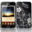 Hard Plastic 2-Piece (Snap On) Rubberized Design Case for Samsung Galaxy Note - Midnight Garden