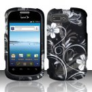 Hard Plastic Snap-On Rubberized Design Case Cover for ZTE Fury - Midnight Garden