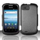 Hard Plastic Snap-On Rubberized Design Case Cover for ZTE Fury - Carbon Fiber