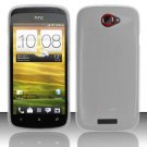 Soft TPU Gel Skin Cover Case for HTC One S/Ville (T-Mobile) - Clear