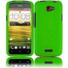 Hard Plastic 2-Piece Rubberized Snap On Cover Case for HTC One X/Elite (AT&T) - Green