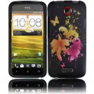 Hard Plastic Rubberized Snap On Design Case for HTC One X/Elite (AT&T) - Heavenly Flowers