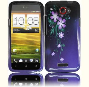 Hard Plastic 2-Piece (Snap On) Design Case for HTC One X/Elite (AT&T) - Nightly Flowers