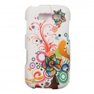 Hard Plastic Snap On Rubberized Design Case for Samsung Galaxy S Blaze 4G - White Autumn Flowers
