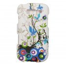 Hard Plastic Snap On Rubberized Design Case for Samsung Galaxy S Blaze 4G - White Spring Flowers