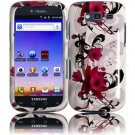 Hard Plastic Snap-On Design Cover Case for Samsung Galaxy S Blaze 4G - Purple Lily