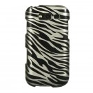 Hard Plastic Snap-On Design Cover Case for Samsung Galaxy S Blaze 4G - Black Zebra