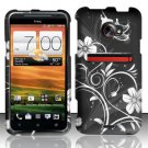 Hard Plastic Rubberized Snap On Design Case for HTC Evo 4G LTE - Midnight Garden