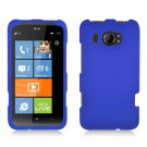 Hard Plastic Rubberized Snap On Cover Case for HTC Titan II (AT&T) - Blue