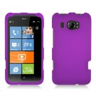 Hard Plastic Rubberized Snap On Cover Case for HTC Titan II (AT&T) - Purple