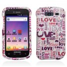 Hard Plastic Snap-On Design Cover Case for Samsung Galaxy S Blaze 4G - I Love You