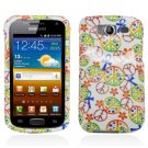 Hard Plastic Snap-On Design Cover Case for Samsung Galaxy S Blaze 4G - Rainbow Peace Signs