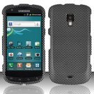 Hard Plastic Snap On Rubberized Design Case for Samsung Galaxy S Aviator - Carbon Fiber