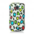 Hard Plastic Snap On Rubberized Design Case for Samsung illusion i110 (Verizon) - Rainbow Leopard