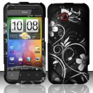 Hard Plastic Rubberized Snap On Design Case for HTC Droid Incredible 4G (Verizon) - Midnight Garden