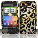 Hard Plastic Rubberized Snap On Design Case for HTC Droid Incredible 4G (Verizon) - Golden Cheetah