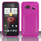 Soft TPU Gel with Matte Finish Skin Case Cover for HTC Droid Incredible 4G (Verizon) - Pink