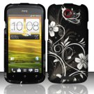 Hard Plastic Rubberized Snap On Design Case for HTC One S/Ville (T-Mobile) - Midnight Garden