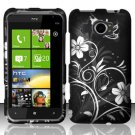 Hard Plastic Rubberized Snap On Design Case for HTC Titan II (AT&T) - Midnight Garden