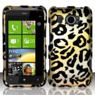 Hard Plastic Rubberized Snap On Design Case for HTC Titan II (AT&T) - Golden Cheetah