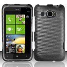Hard Plastic Rubberized Snap On Design Case for HTC Titan II (AT&T) - Carbon Fiber