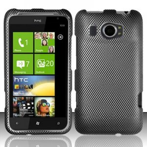 Hard Plastic Rubberized Snap On Design Case for HTC Titan II (AT&amp;T) - Carbon Fiber