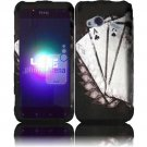 Hard Plastic Rubberized Design Case for HTC Droid Incredible 4G (Verizon) - Vintage Ace