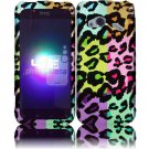 Hard Plastic Rubberized Design Case for HTC Droid Incredible 4G (Verizon) - Colorful Leopard