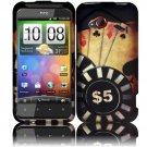 Hard Plastic Rubberized Design Case for HTC Droid Incredible 4G (Verizon) - Ace Poker