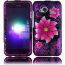 Hard Plastic Rubberized Design Case for HTC Droid Incredible 4G (Verizon) - Divine Flowers