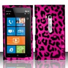 Hard Plastic Rubberized Snap On Design Case for Nokia Lumia 900 (AT&T) – Hot Pink Leopard