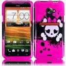 Hard Plastic Snap On Design Cover Case for HTC Evo 4G LTE (Sprint) - Girly's Skull