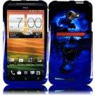 Hard Plastic Snap On Design Cover Case for HTC Evo 4G LTE (Sprint) - Blue Skull