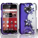 Hard Plastic Rubberized Design Case for LG Optimus Elite (Sprint/Virgin Mobile) – Purple Vines