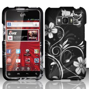 Hard Plastic Rubberized Design Case for LG Optimus Elite (Sprint/Virgin Mobile) � Midnight Garden