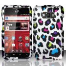 Hard Plastic Rubberized Design Case for LG Optimus Elite (Sprint/Virgin Mobile) – Rainbow Leopard